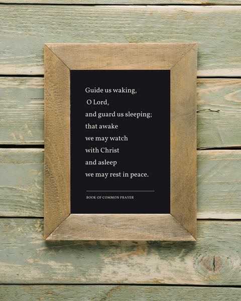 guide us waking (dark) printable