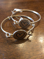 Bracelet Gold Bangle Heart
