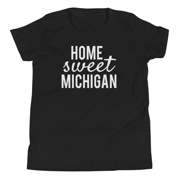 Home Sweet Michigan Youth Short Sleeve T-Shirt