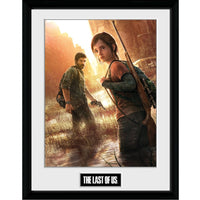 "The Last of Us Key Art Framed Collector Print 12"" x 16""-Gaming Merch-RETROBLE"