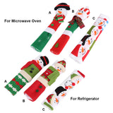 Christmas Microwave Door and Refrigerator Handle Snowman Covers 3pc set