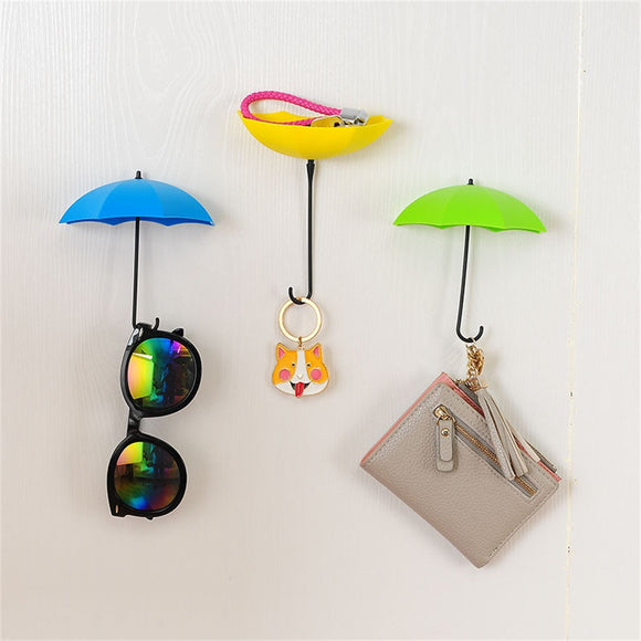 Colorful Umbrella Wall Hook Key Organizer