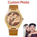 Unique Bamboo Wood Customized Mens Watch