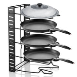 Adjustable Heavy Duty Pan and Pot Rack Lid Holder