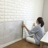 "3D Brick Pattern Wallpaper 20""x 20"""