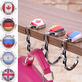 4x Portable Handbag Table Hooks