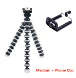 Flexible Tripod Stand for DSLR Camera, Go Pro or Smart Phone