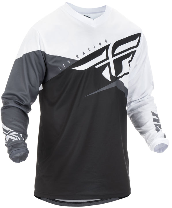 fly-racing-youth-f16-jersey-blk-white-front