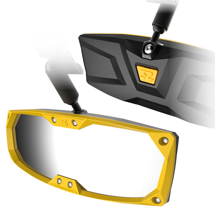 seizmik halo r rear view mirror yellow