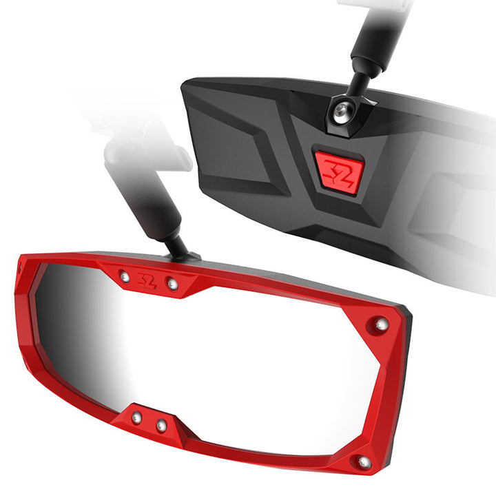 seizmik halo r rear view mirror-bezel-red