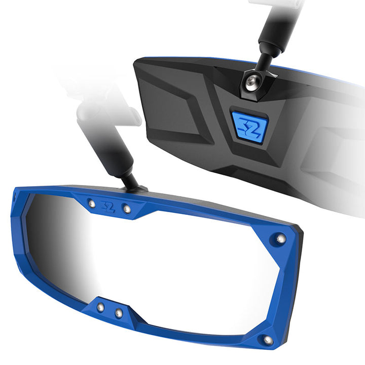 seizmik halo r rear view mirror bezel blue