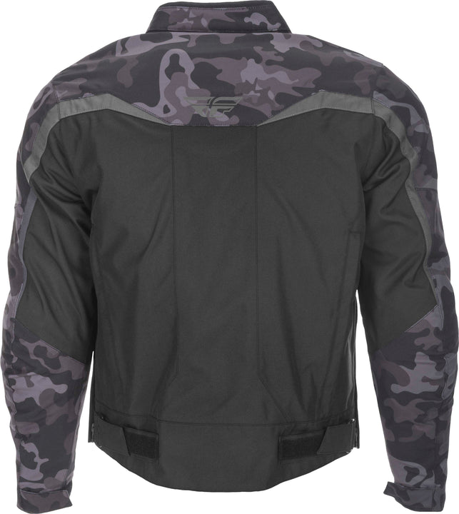 fly racing 2019 butane jacket camo back