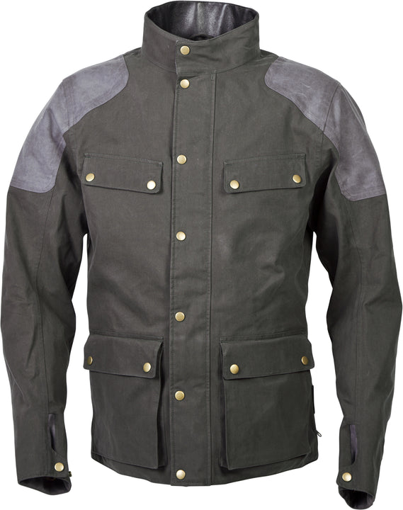scorpion-birmingham-jacket-green-front