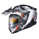 scorpion exo at950 outrigger electric face shield helmet orange