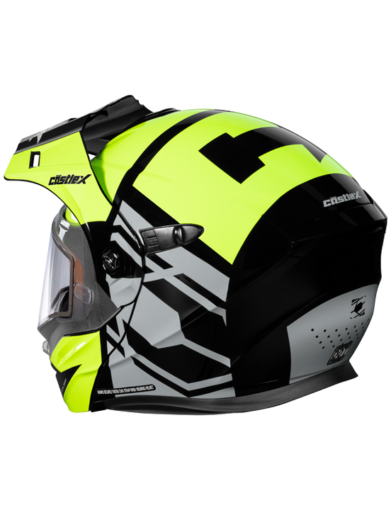 castle cx950 hex electric helmet hivis back
