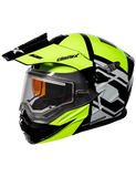castle cx950 hex electric helmet hivis front