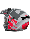 castle cx950 hex electric helmet grey back