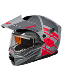 castle cx950 hex electric helmet grey front