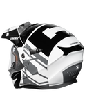 castle cx950 hex electric helmet black back