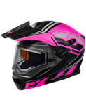 castle cx950 siege electric helmet black pink front