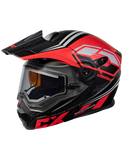 castle cx950 siege electric helmet black red front