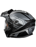 castle cx950 siege electric helmet black grey back