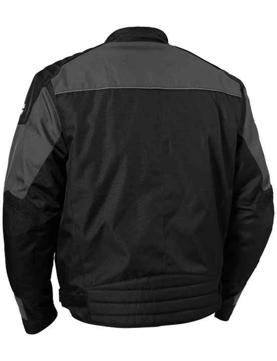castle classic motorcycle jacket gray back