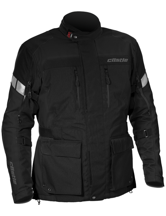castle distance motorcycle jacket black
