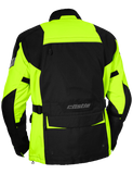 castle distance motorcycle jacket hivis back