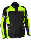 castle distance motorcycle jacket hivis