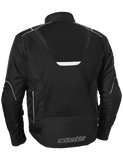 castle max air motorcycle jacket black back
