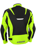 castle max air motorcycle jacket hivis back