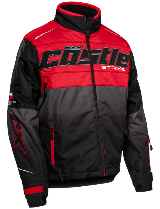 castle strike jacket red front