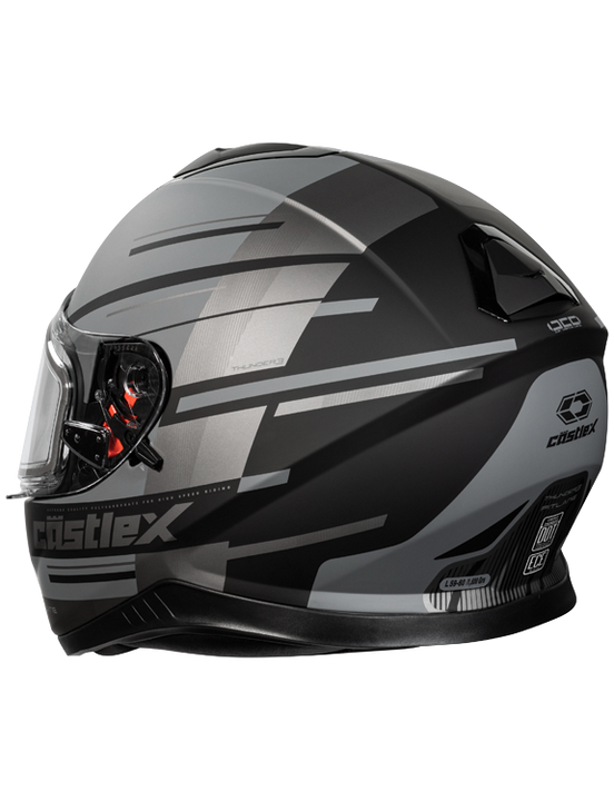 castle thunder 3 pitlane helmet grey back
