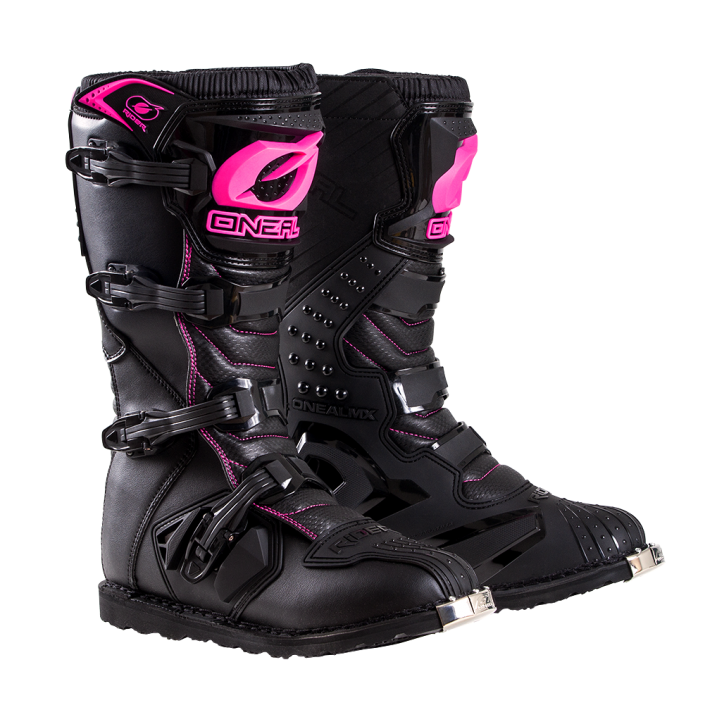 oneal-rider-youth-boot-pink-front