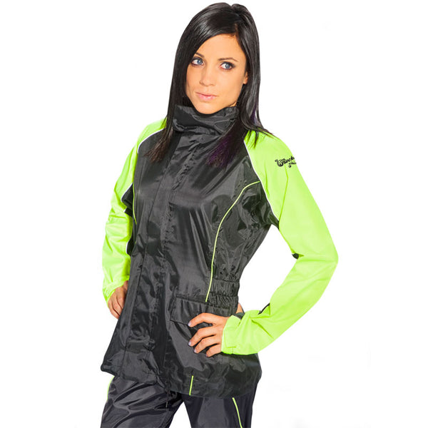 Black//Hi-Viz, Medium Joe Rocket RS-2 Mens Motorcycle Rain Suit