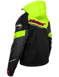 castle code jacket womens black grey hivis back