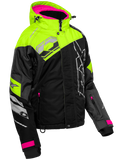 castle code jacket womens black grey hivis front