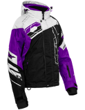 castle code jacket womens black white grape front