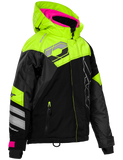 castle code jacket youth black pink front