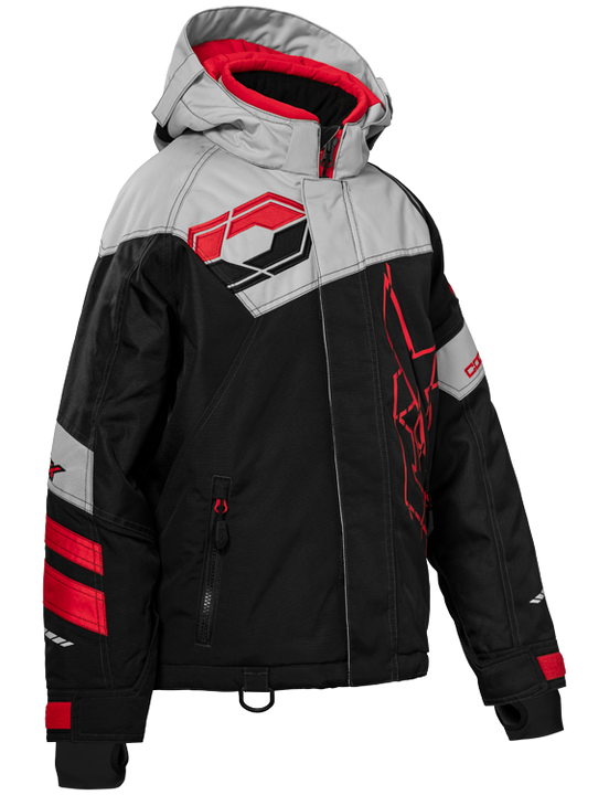 castle code jacket youth black red front