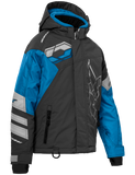 castle code jacket youth blue grey front