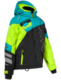 castle code jacket youth turquoise hivis front
