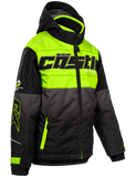castle strike jacket youth hivis black front