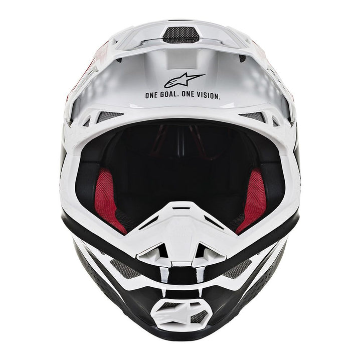 alpinestars supertech m8 triple helmet red white front
