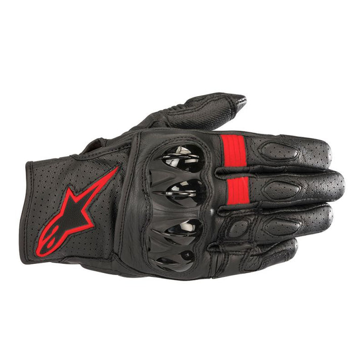 alpinestars celer v2 gloves black red