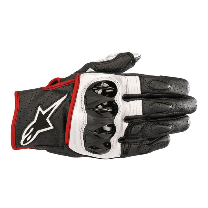 alpinestars celer v2 gloves black white red