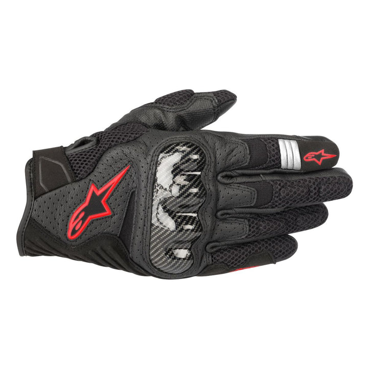 alpinestars smx air v2 gloves black red