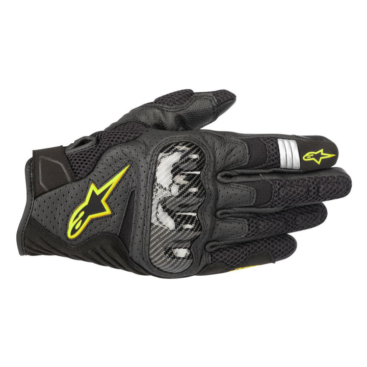 alpinestars smx air v2 gloves black yellow