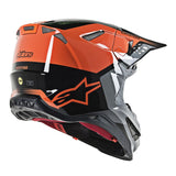 alpinestars supertech m8 triple helmet orange back